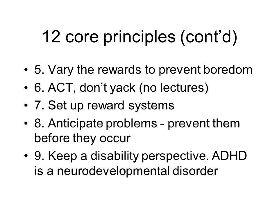 12 core principles (cont'd)