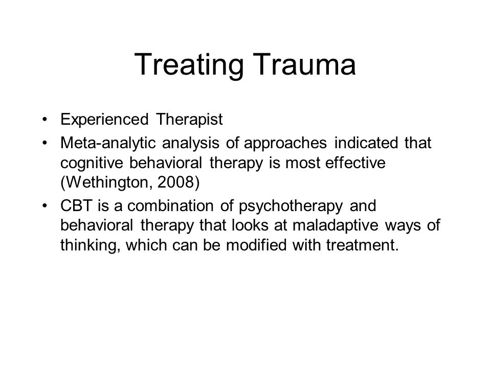 Treating Trauma Experienced Therapist