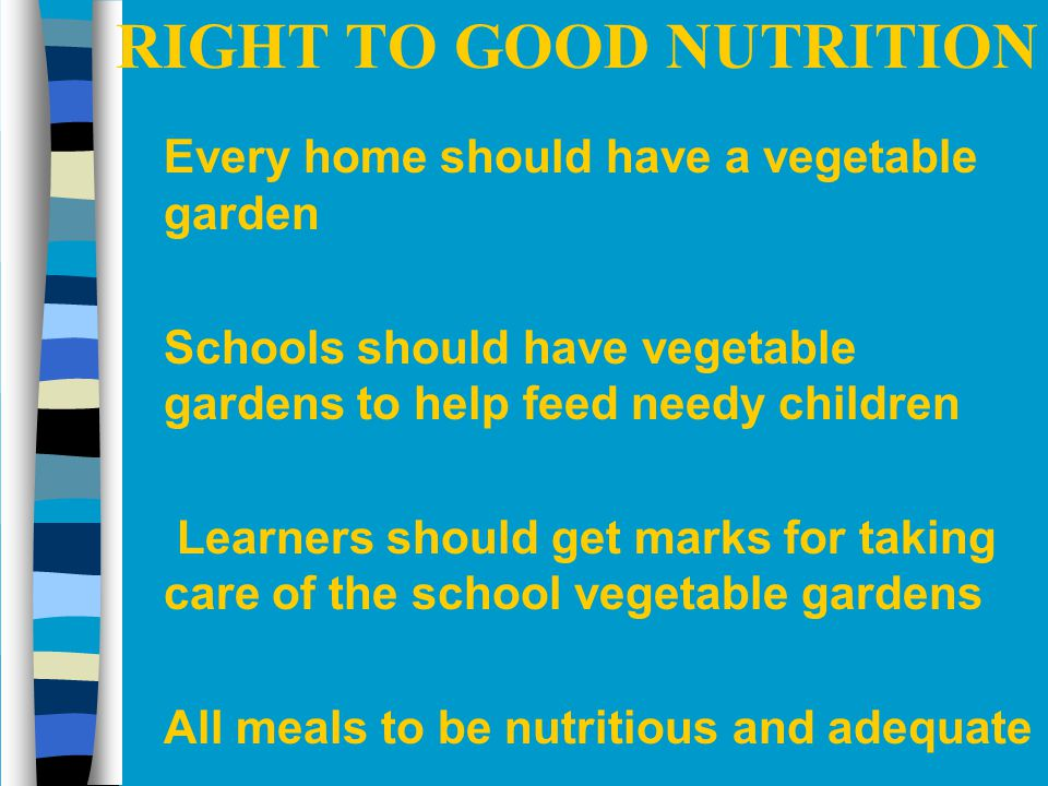 RIGHT TO GOOD NUTRITION