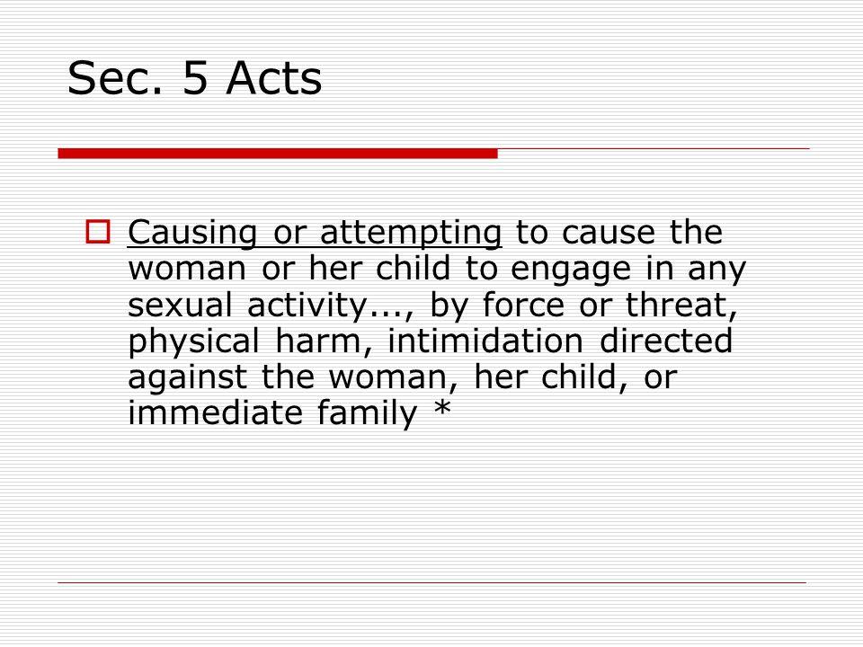 Sec. 5 Acts
