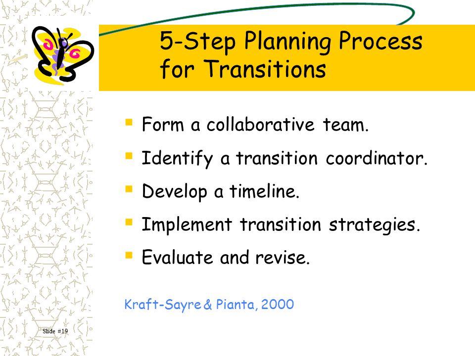 5-Step Planning Process for Transitions