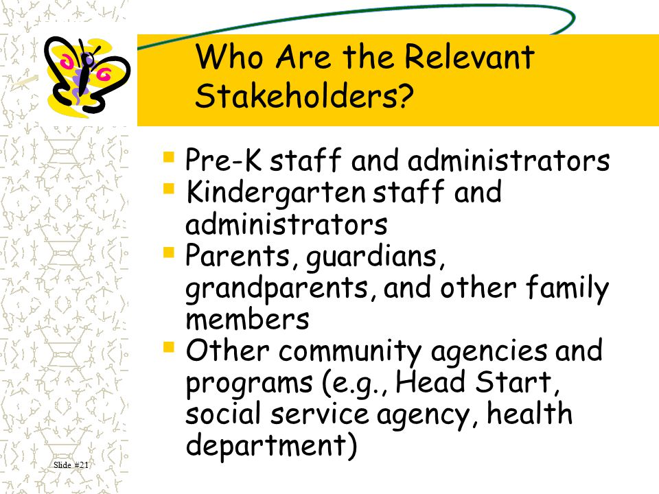 Who Are the Relevant Stakeholders