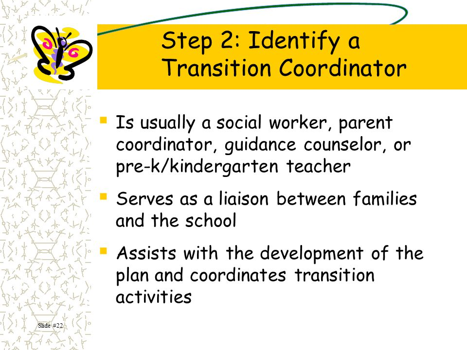 Step 2: Identify a Transition Coordinator