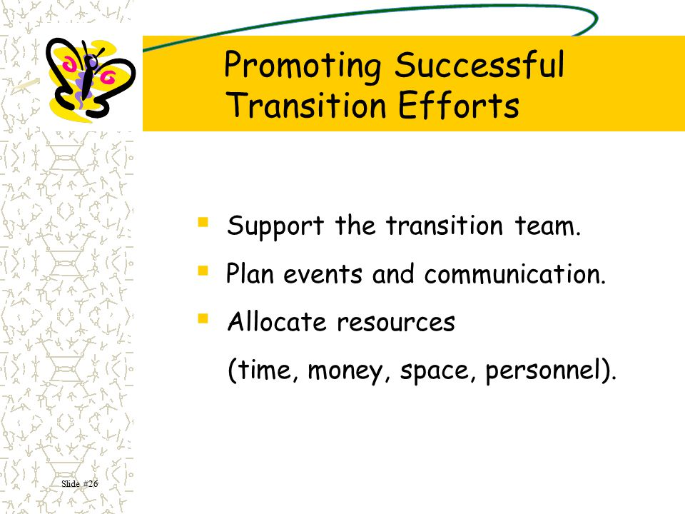 Promoting Successful Transition Efforts