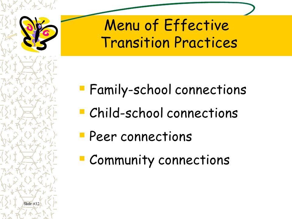 Menu of Effective Transition Practices
