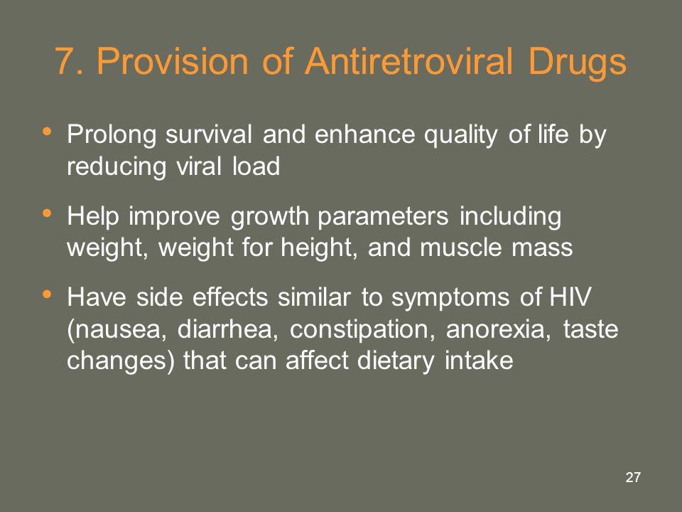 7. Provision of Antiretroviral Drugs