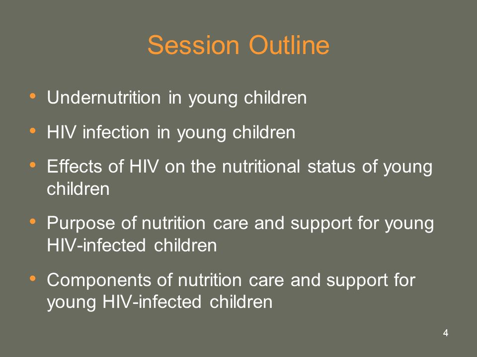 Session Outline Undernutrition in young children