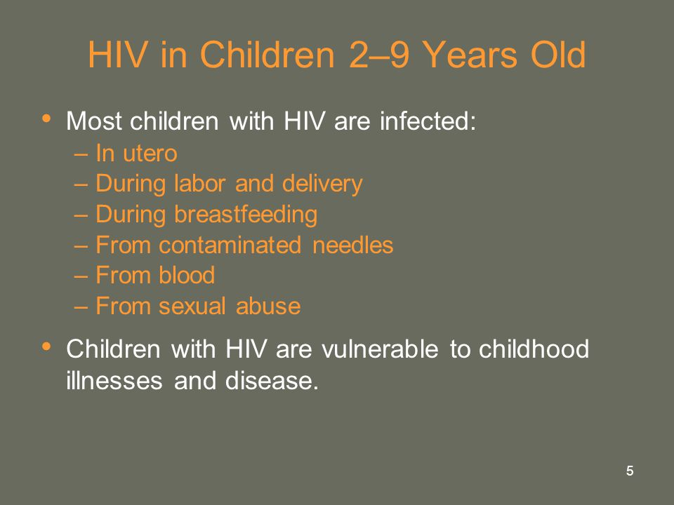 HIV in Children 2–9 Years Old
