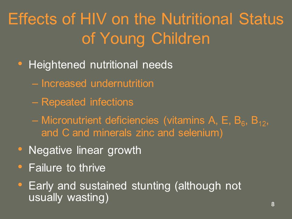 Effects of HIV on the Nutritional Status of Young Children