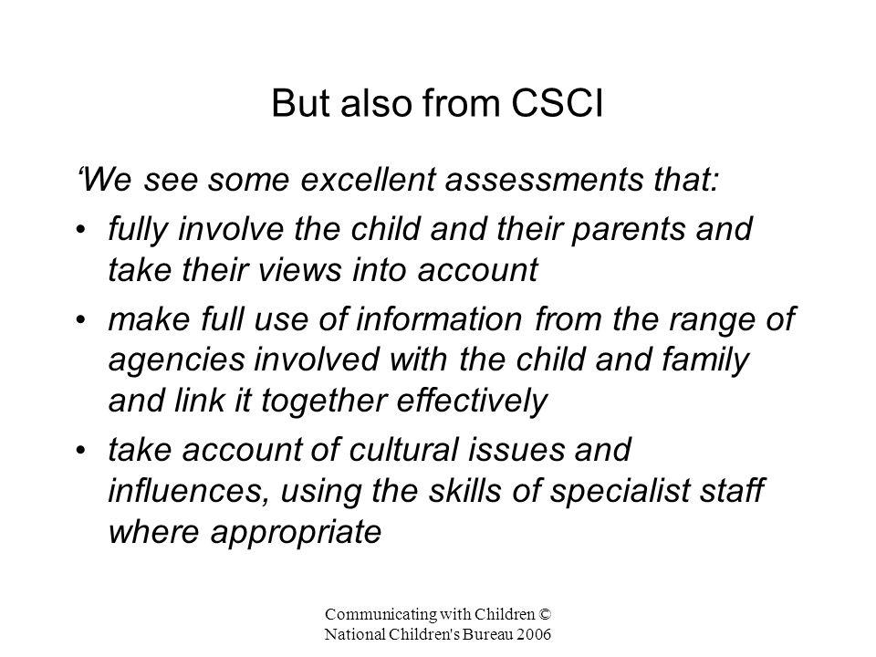 Communicating with Children © National Children s Bureau 2006