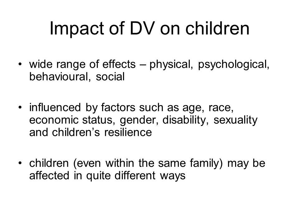 Impact of DV on children