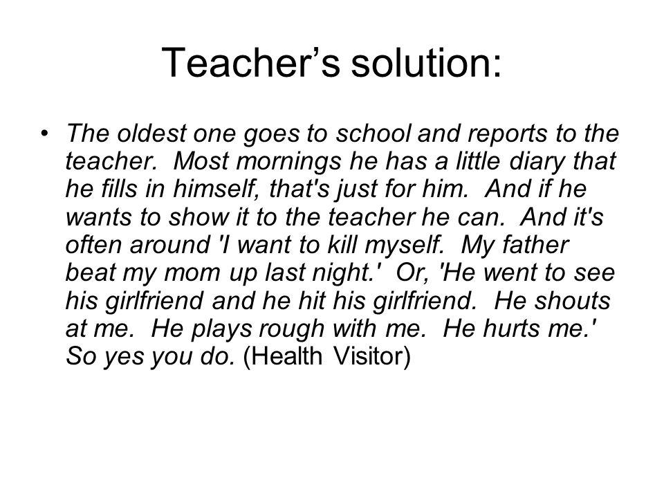 Teacher's solution: