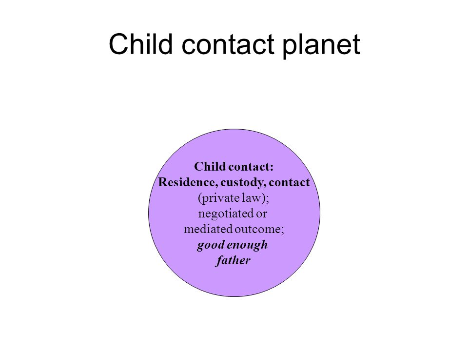 Residence, custody, contact