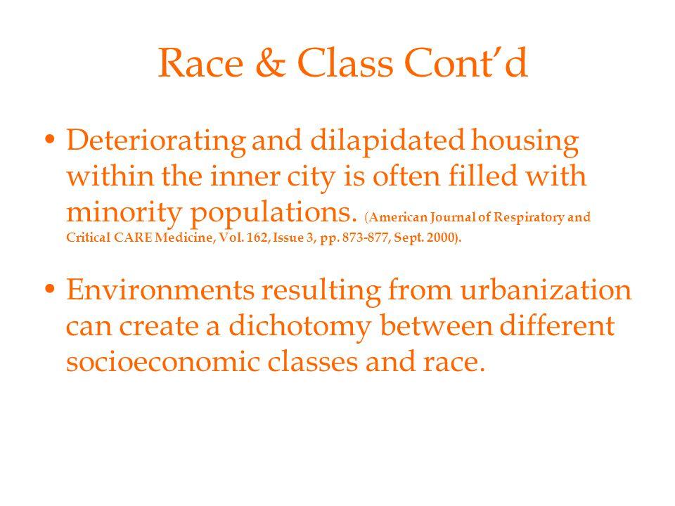 Race & Class Cont'd