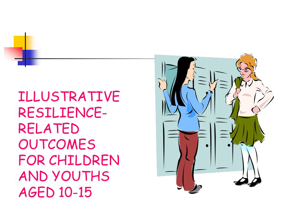 ILLUSTRATIVE RESILIENCE-RELATED OUTCOMES FOR CHILDREN AND YOUTHS AGED 10-15