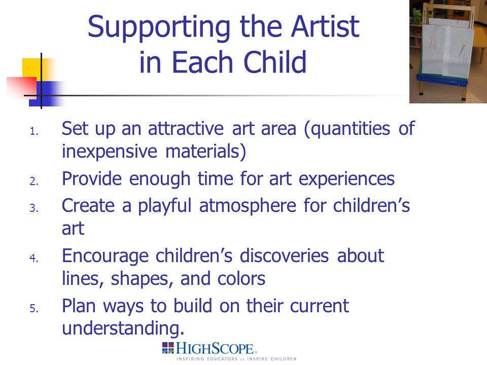 Supporting the Artist in Each Child