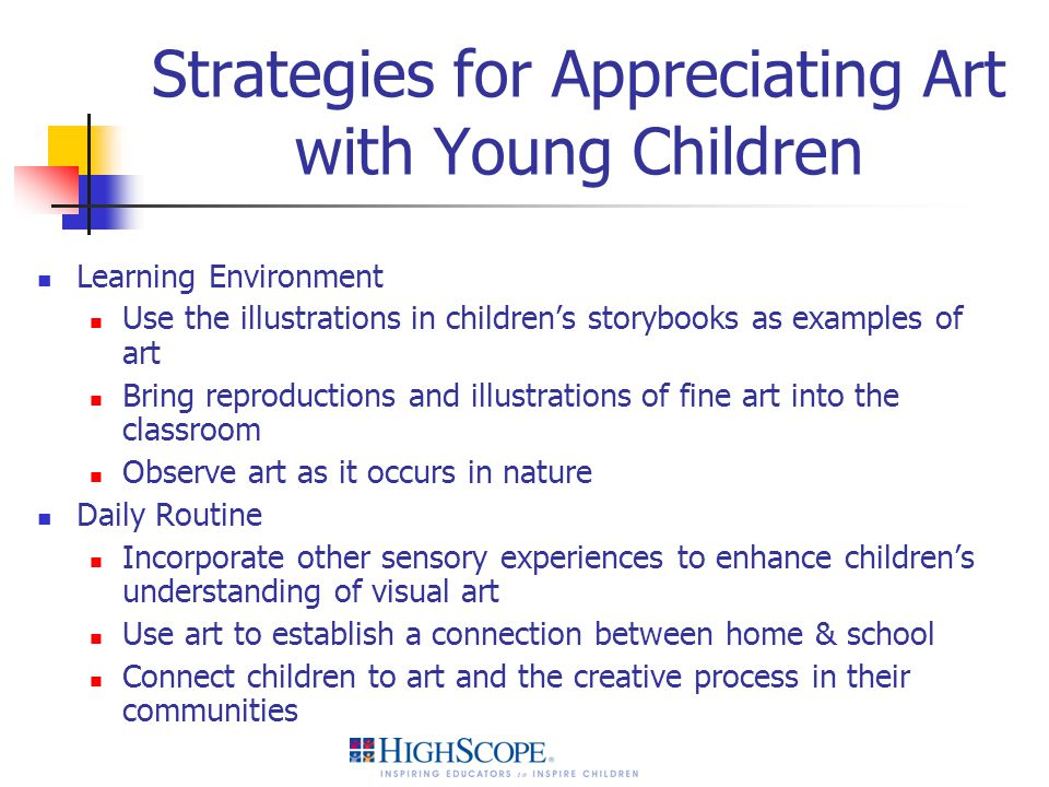 Strategies for Appreciating Art with Young Children