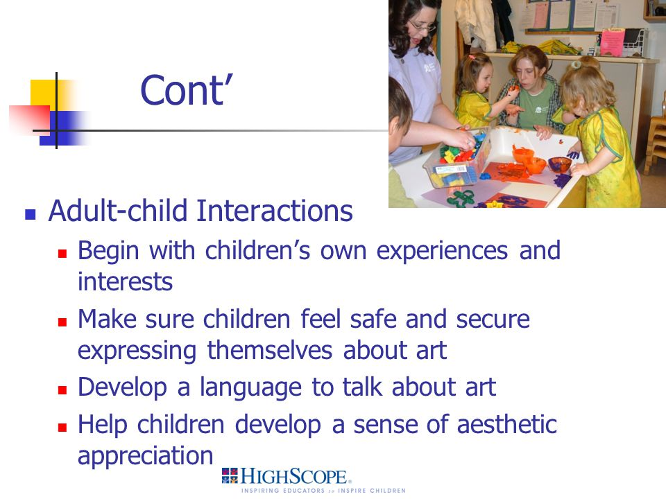 Cont' Adult-child Interactions