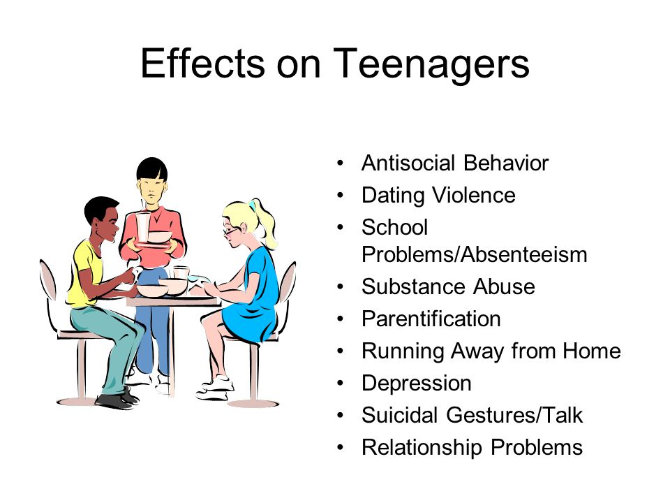 Effects on Teenagers Antisocial Behavior Dating Violence