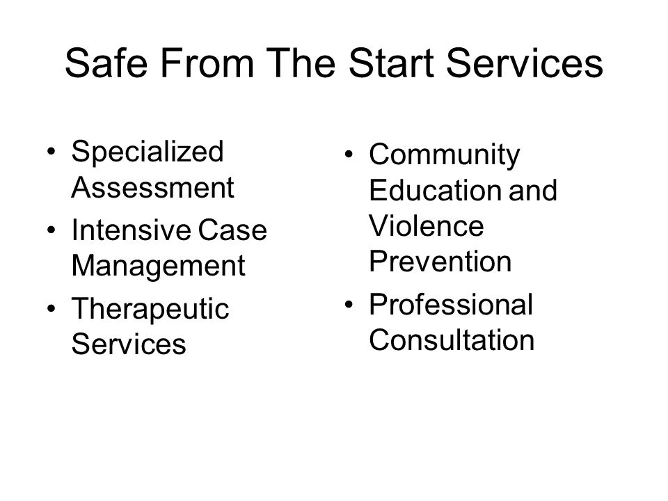 Safe From The Start Services