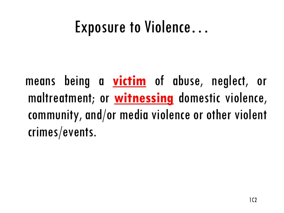 Exposure to Violence…