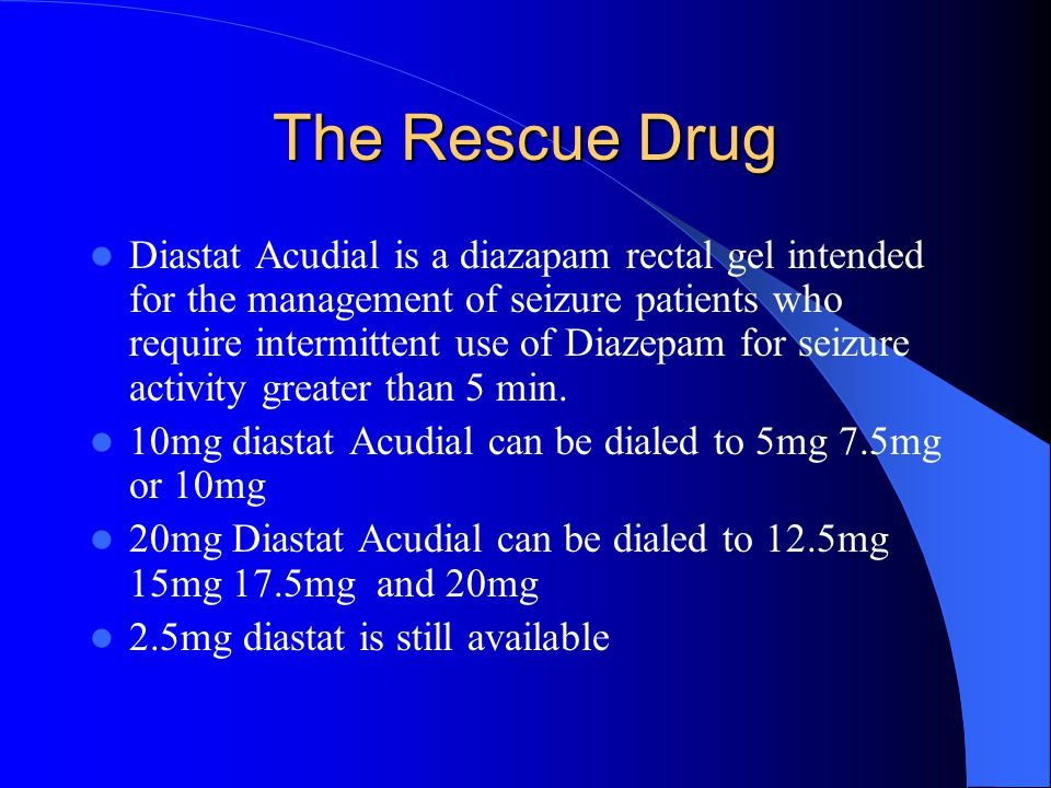 The Rescue Drug