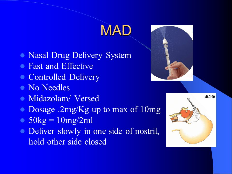 MAD Nasal Drug Delivery System Fast and Effective Controlled Delivery