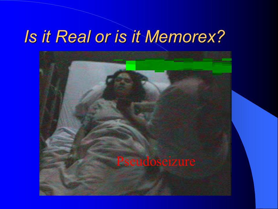 Is it Real or is it Memorex