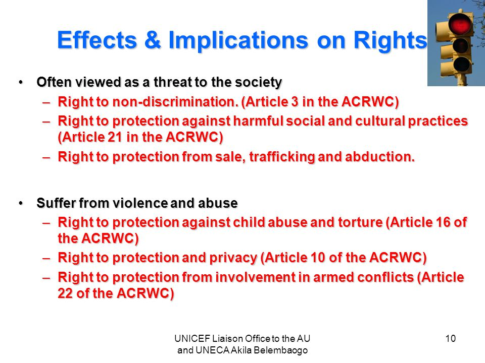 Effects & Implications on Rights
