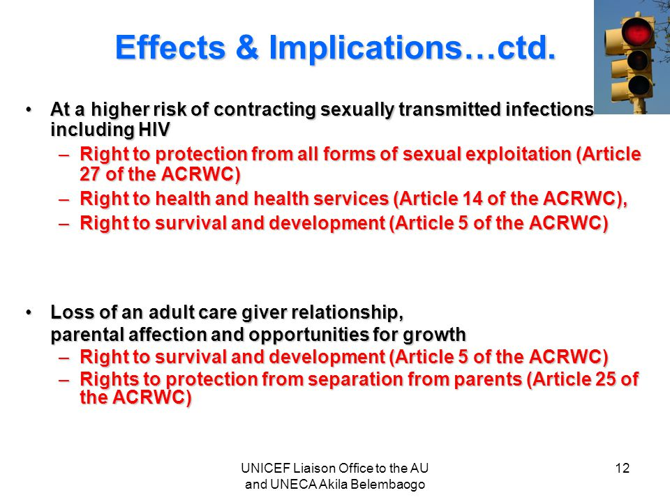 Effects & Implications…ctd.