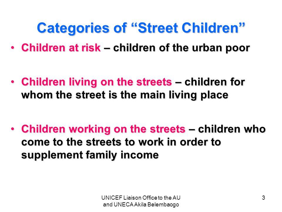 Categories of Street Children
