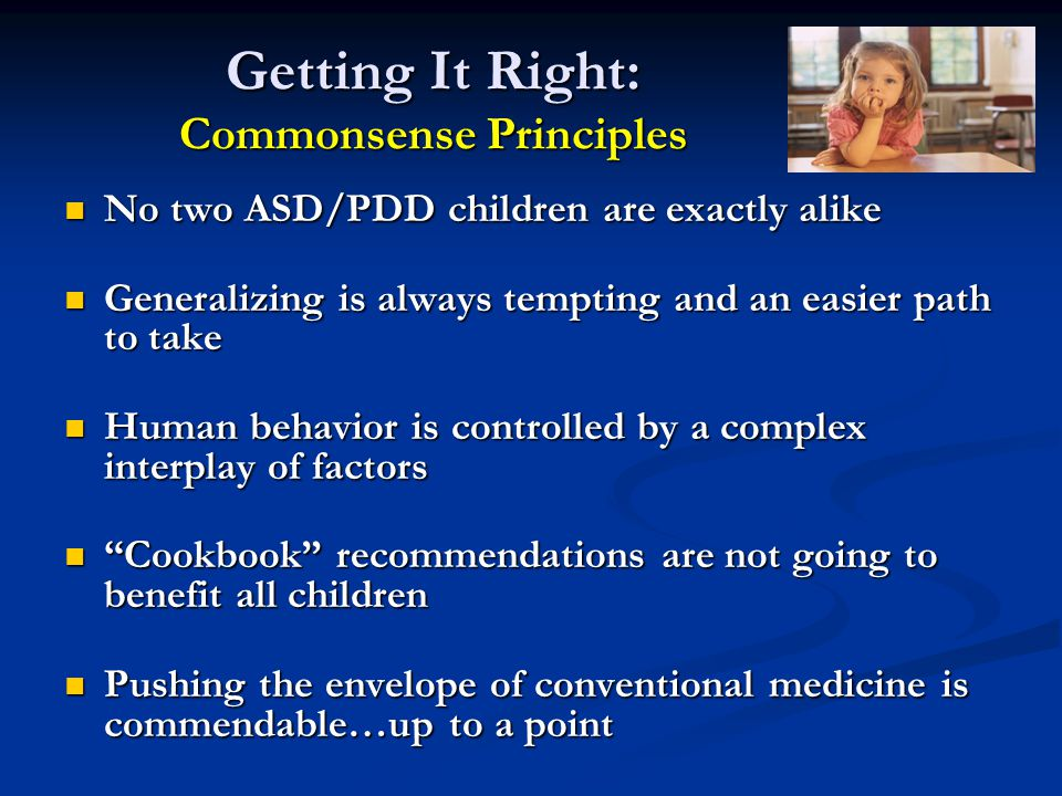 Getting It Right: Commonsense Principles
