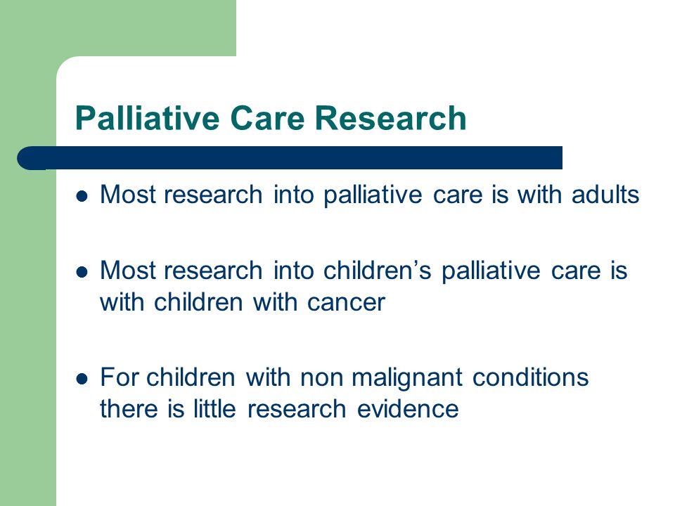 Palliative Care Research