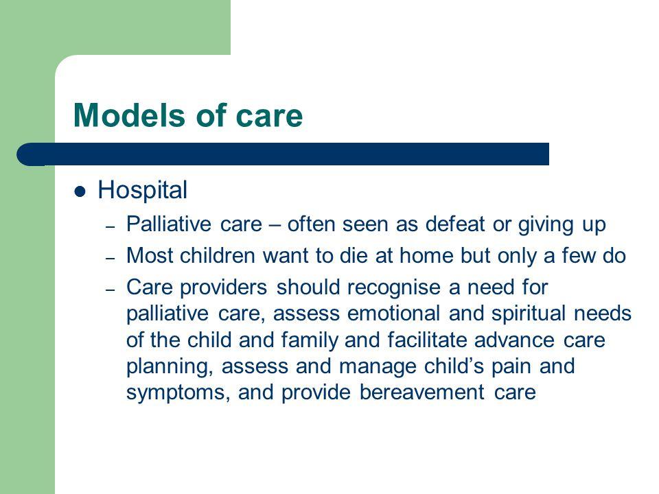 Models of care Hospital
