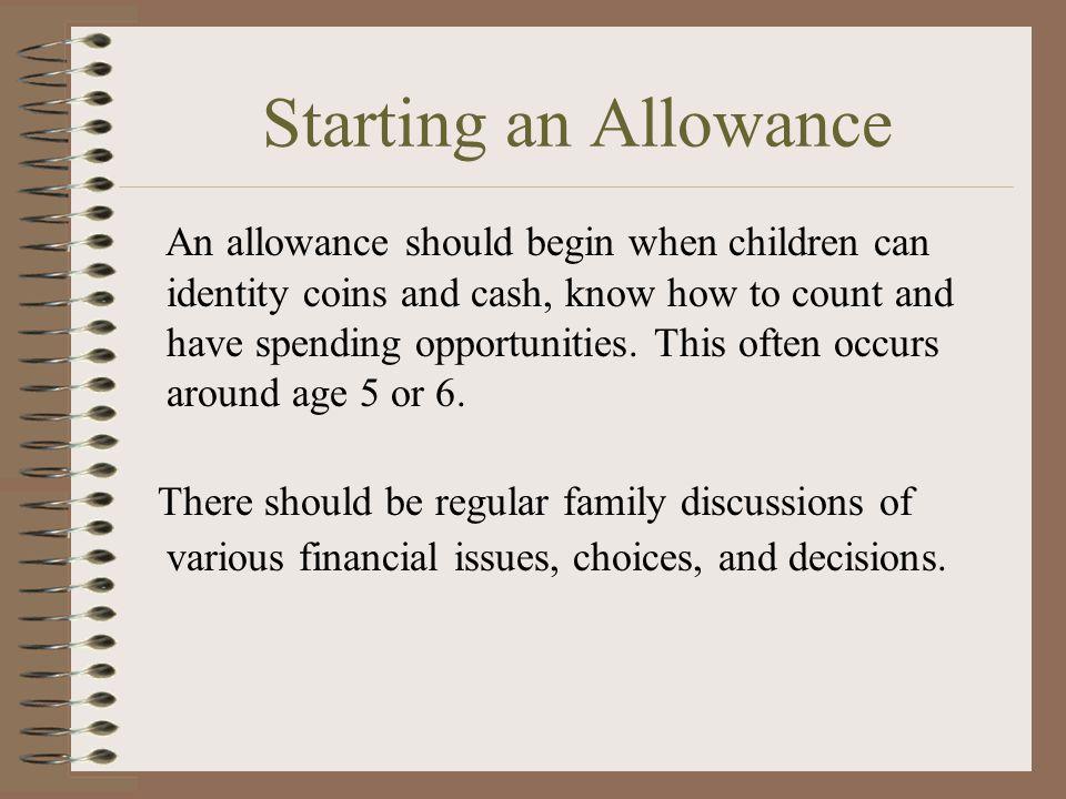 Starting an Allowance