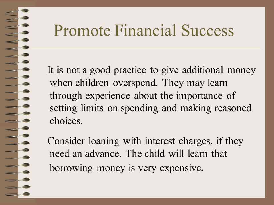 Promote Financial Success