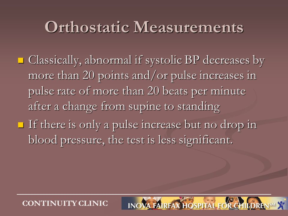 Orthostatic Measurements