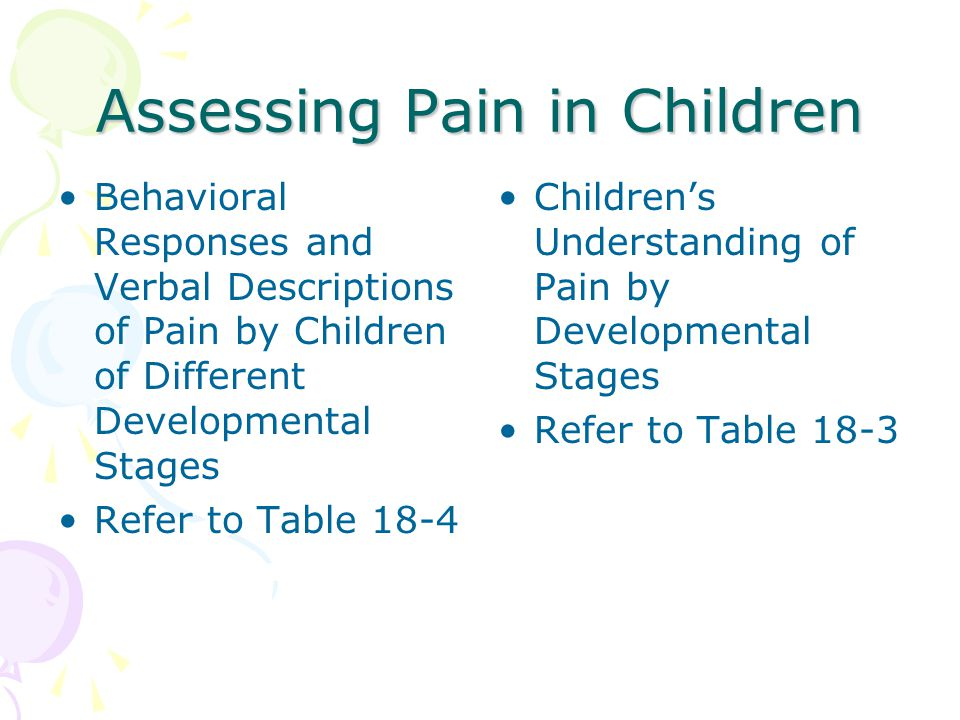 Assessing Pain in Children