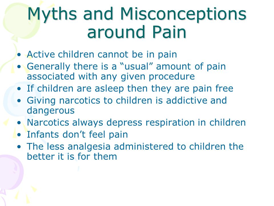 Myths and Misconceptions around Pain
