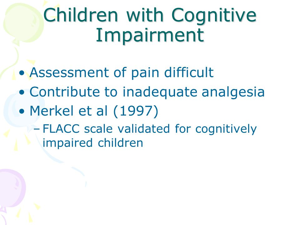 Children with Cognitive Impairment