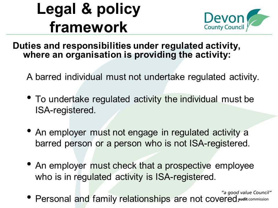 Legal & policy framework