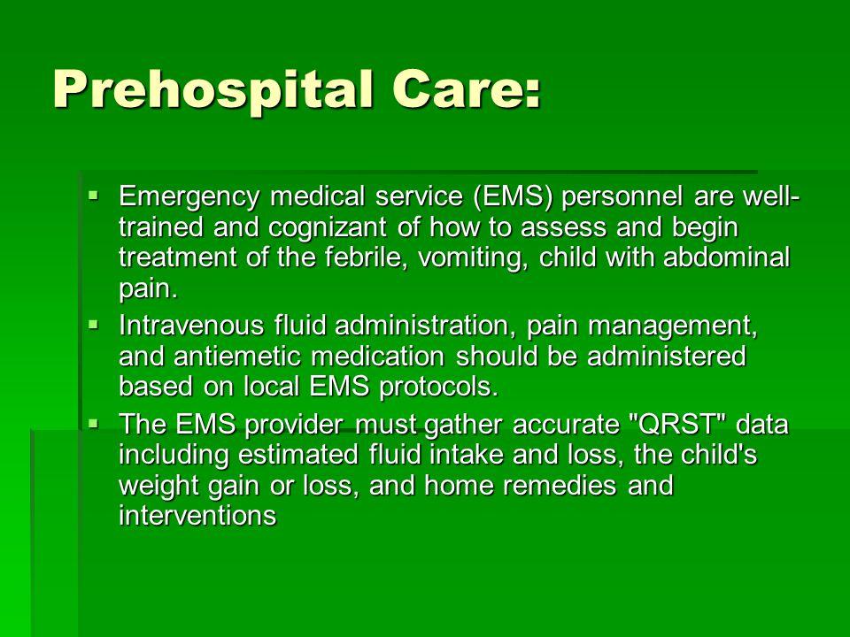 Prehospital Care: