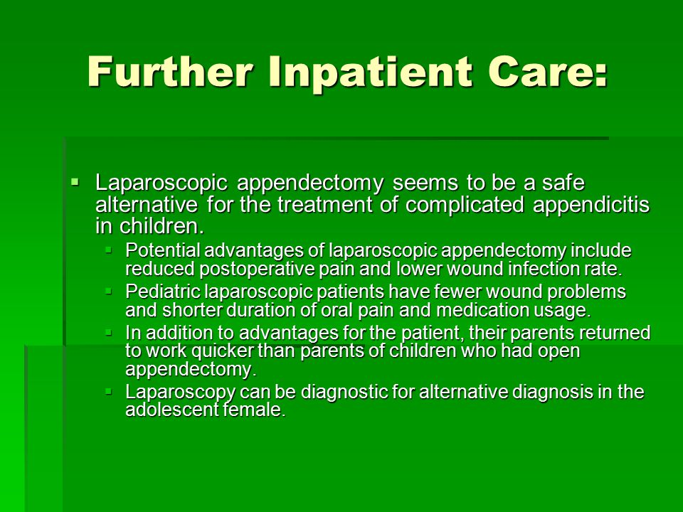 Further Inpatient Care: