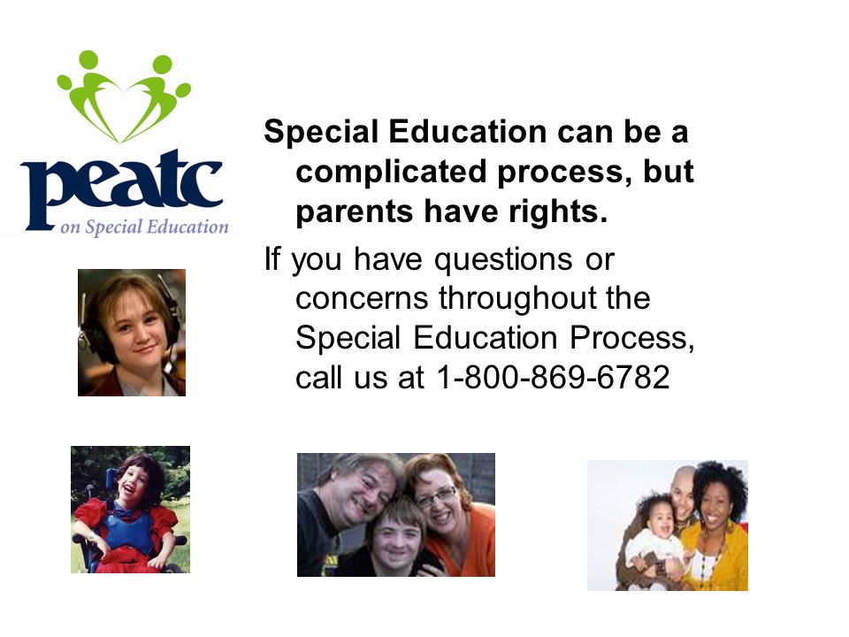 Special Education can be a complicated process, but parents have rights.