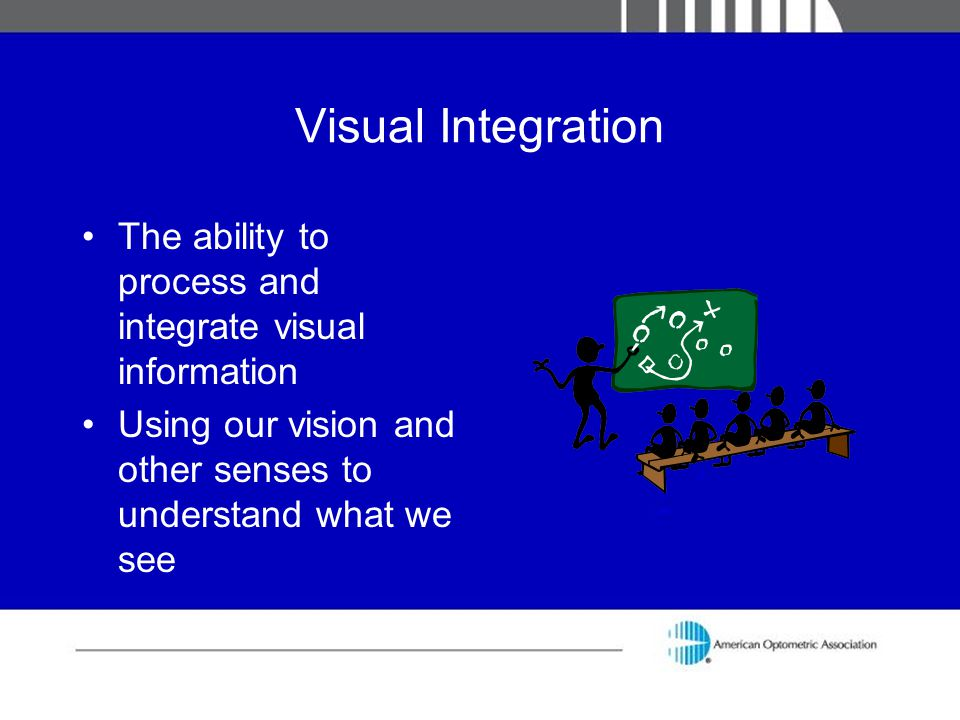 Visual Integration The ability to process and integrate visual information.