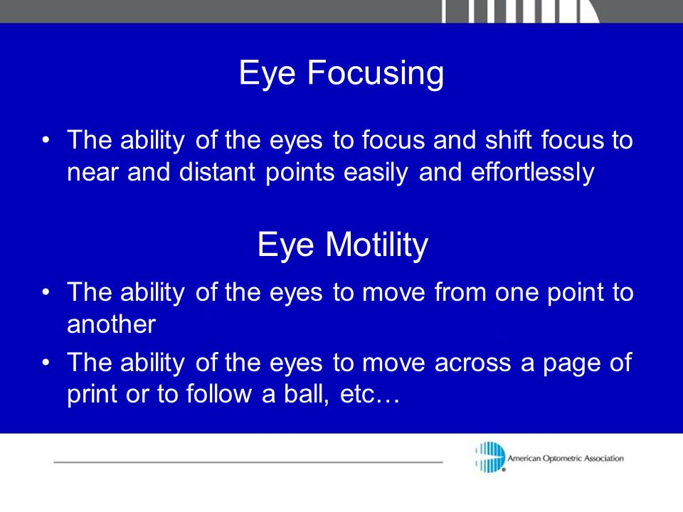 Eye Motility Eye Focusing
