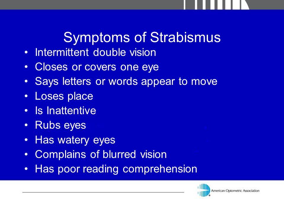 Symptoms of Strabismus