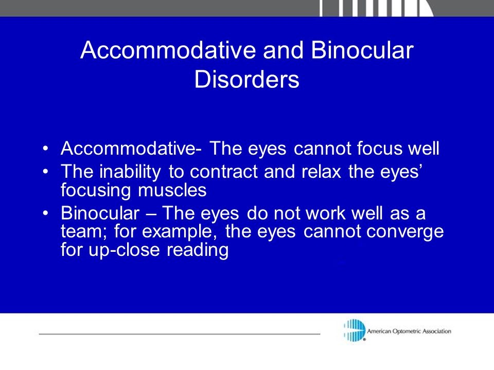 Accommodative and Binocular Disorders