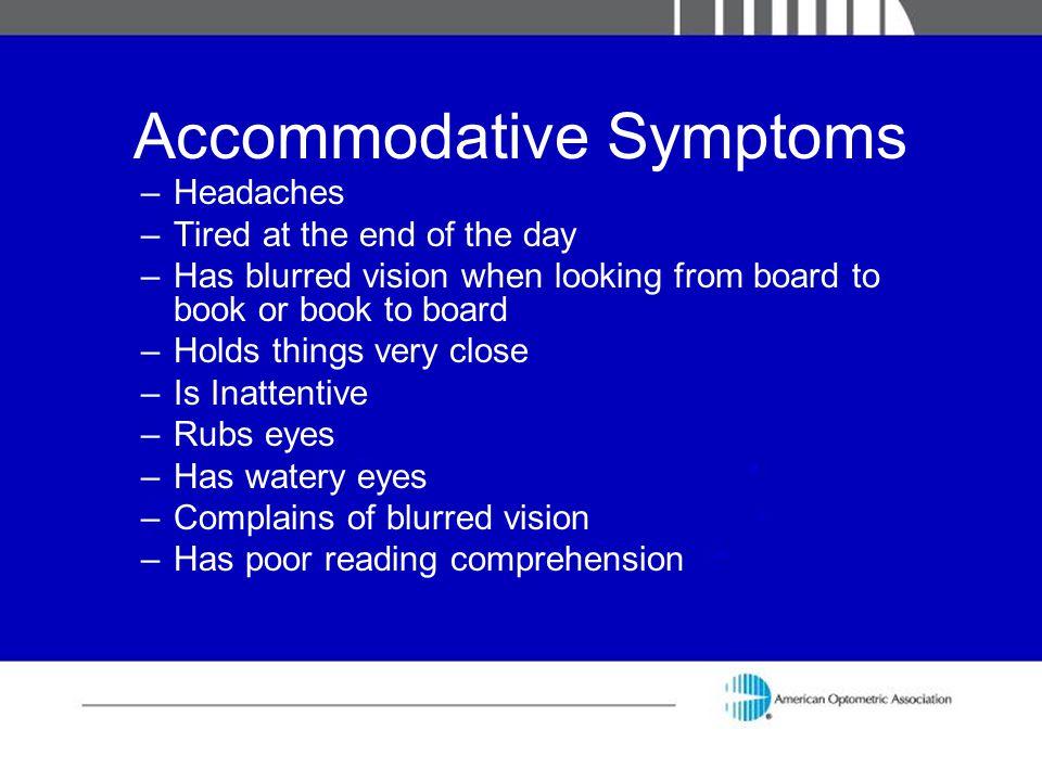 Accommodative Symptoms