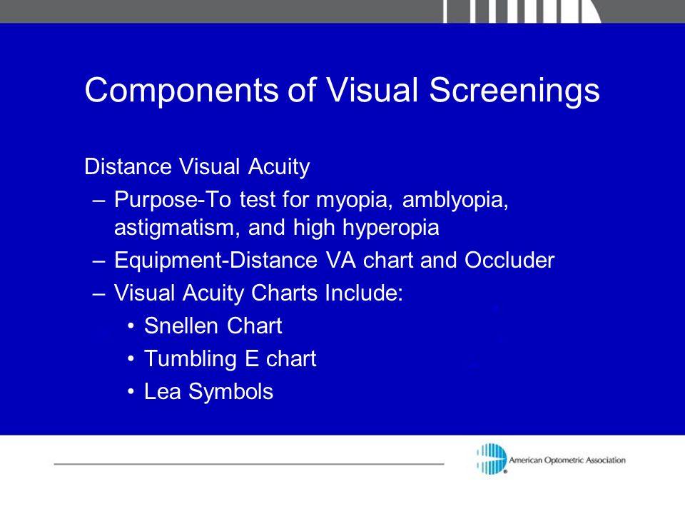 Components of Visual Screenings